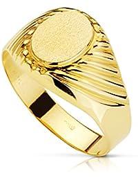 Sello caballero Dante. Oro amarillo 18 kilates - Personalizable, grabado incluido