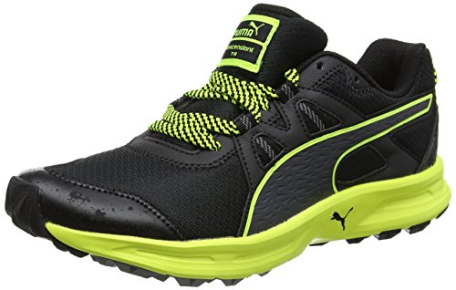 Puma Descendant TR Herren Laufschuhe Schwarz (puma black-safety yellow 10)
