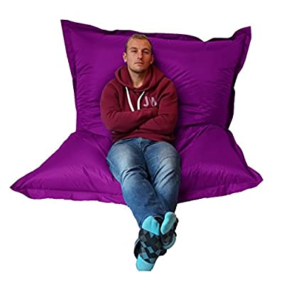 Extra Large Giant Beanbag Purple - Indoor & Outdoor Bean Bag - MASSIVE 180x140cm - great for Garden
