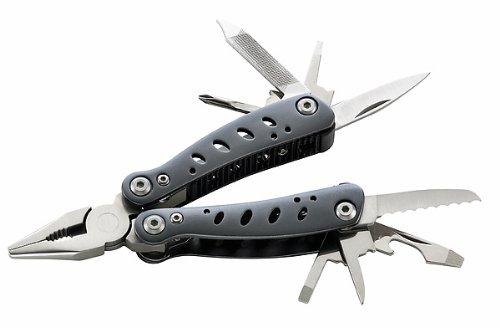 Herbertz Mini-Tool, Zange mit 8 Werkzeugen, Aluminium-Heft, Nylonetui