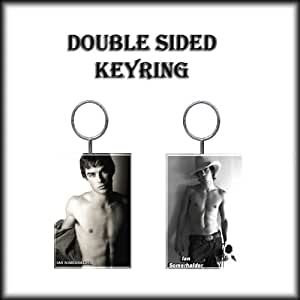 IAN SOMERHALDER DOPPELSEITIG Schlüsselring - KEYRING - IS001
