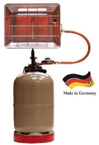 Gasheizstrahler 4200 Z Infrarot mit Druckregler Made in Germany + Anzünder von Rothenberger