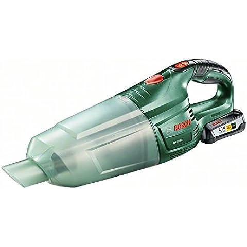 Bosch - PAS 18 LI - Cargador, batera, cepillo-para-boquilla para rincones, tubos de extensin, filtro, caja de 18 V, 2,5 Ah,