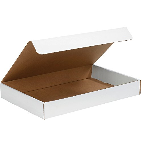 aviditi ml1291Wellpappe Literatur Versandbox, 12-1/20,3cm Länge x 9-1/10,2cm Breite x 2,5cm Höhe, Oyster Weiß (Bundle Of 50) (Wellpappe-versandboxen)