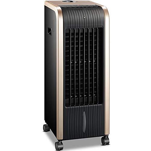 HAIPENG Mobile Tragbare Klimaanlage Klimagerät Luftkühler Lüfter 6-in-1 Kühlung Heizung Abwehrmittel Luftreiniger Fernbedienung Zeitliche, 80W (Farbe : Gold+Black, größe : 265x320x730mm)