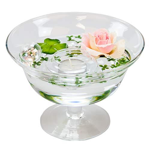 Bol roxy 76 hauteur : 13 cm-diamètre : 18 cm couleur or rose avec décoration rose)
