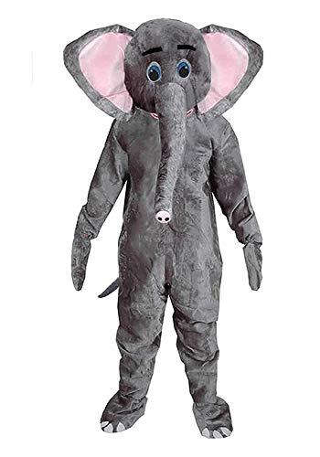 Elefant Einheitsgrösse M Kostüm Fasching Karneval Maskottchen Rummelpott ()