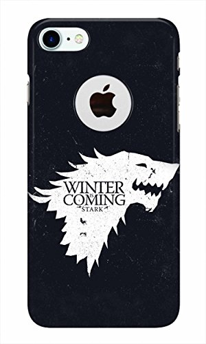Stylite Winter Is Coming Games Of Thrones 3D Printed Stylish Plastic Case Cover For iPhone 7 Logo Cut 410X 2BrOI90L