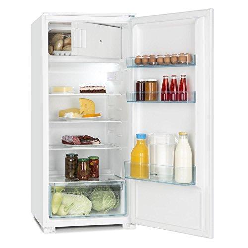 Klarstein Coolzone 186 Réfrigérateur encastrable de 183 litres (compartiment congélation 15L, compartiment porte, bac à légumes) - blanc