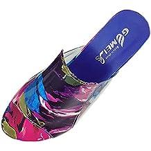 Chanclas para Mujer Sandalia para mujer Moda Diamante de imitación Zapatilla de tacones gruesos Sandalias de mujer Fiesta Chanclas Zapatos de mujeres LMMVP