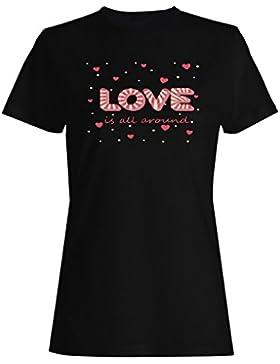 El caramelo amor está todo alrededor de la novedad camiseta de las mujeres p31f