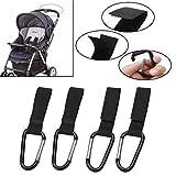 Oulensy 4 Pezzi Universale Bag Ganci per Sedia a rotelle Passeggino moschettone Clip del Bambino Passeggini Bag Ganci Shopping Bag Accessori Clip