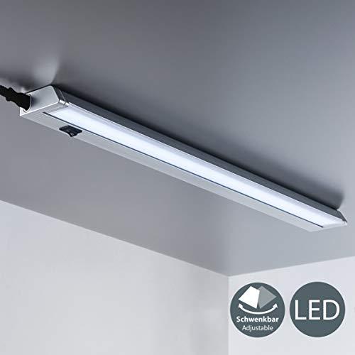 LED Unterbauleuchte Schwenkbar Lichtleiste Küchenleiste LED Küchenleuchte Küchenlampe Schrankleuchte Schranklampe Titan Ein/Ausschalter 56 x 6,1 x 2,4 cm 8,5 Watt 1000 Lumen