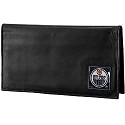 NHL Edmonton Oilers Genuine Leather Deluxe Checkbook Cover
