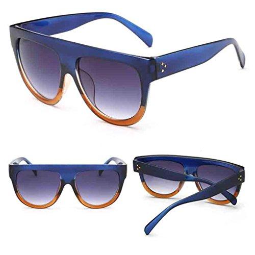 Gusspower Gafas de Sol Polarizadas,UV400 Gafas de Sol Polarizadas Metal de Moda para Conducción Pesca Esquiar Golf Aire Libre para Mujer y Hombre Unisex (H)