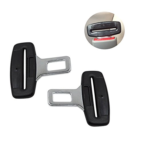 2x Anti Gurtstecker Gurtwarner Gurtschloss Gurtalarm Auto Gurte Alarm Stopper Gurtadapter Carbon Universal für die meisten des Autos Alarm Auto