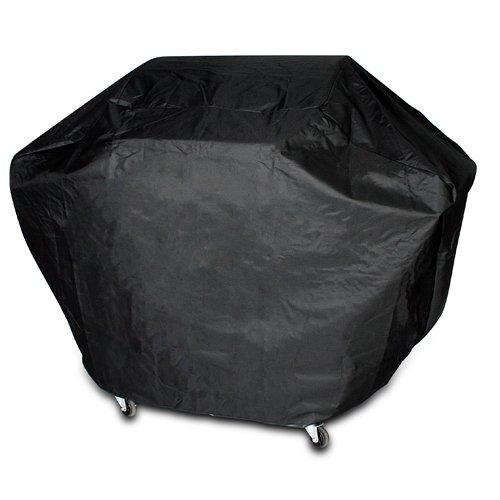 Broil-master Schwarz Grill-Abdeckhaube Abdeckung Haube Schutzhülle Wetterschutz für BBQ Grill Gasgrill 6+1 inkl. Klettbänder (170 x 115 x 65 cm)