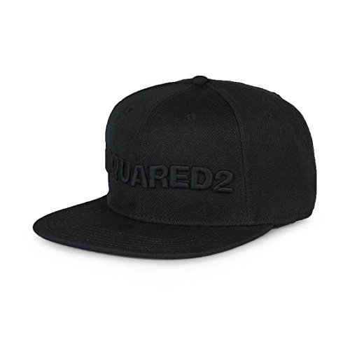 dsquared2-black-logo-baseball-cap
