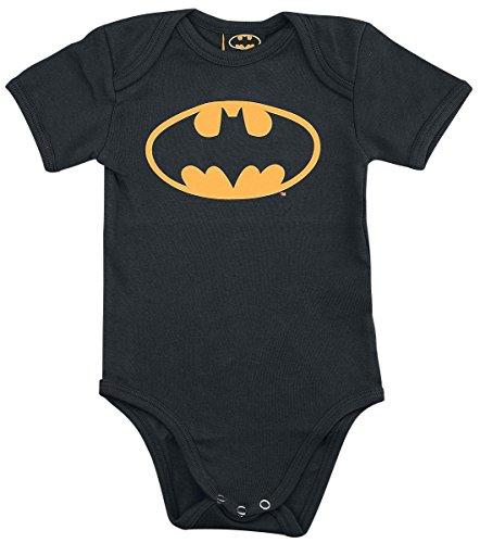 Batman Logo Body Bebé Negro 50/56