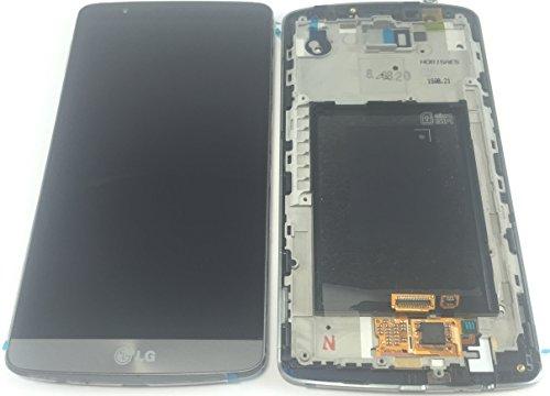 LG G3d855LCD + Touch Screen Digitizer Komplett Front Cover mit Bilderrahmen. 100% original, Brand Neu Ersatz LCD-Bildschirm Reparatur Teil (nicht kompatibel mit die kleineren G3S Version) UK Lieferant, von Saphirschwarz der Britischen Original Teile Specialist. Lg Touch-screen Lcd