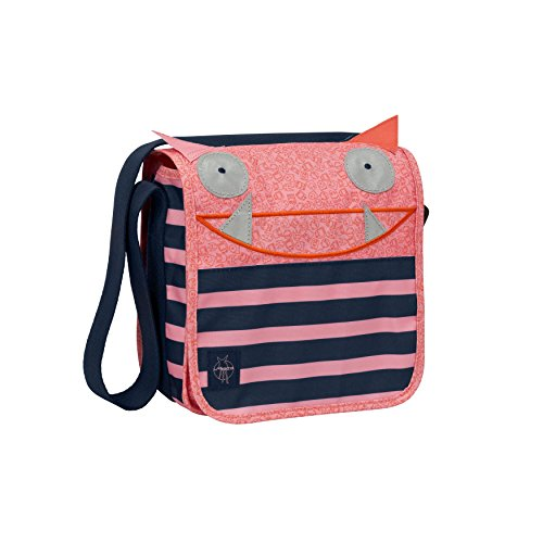 LÄSSIG Kindertasche Kindergartentasche Umhängetasche Junge Mädchen Kindergarten / Mini Messenger Bag Little Monsters, Mad Mabel - Safari Trolley