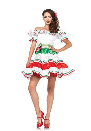 (Leg Avenue 86169 3 teilig Sultry Senorita, Damen Karneval Kostüm Fasching, M/L, mehrfarbig)
