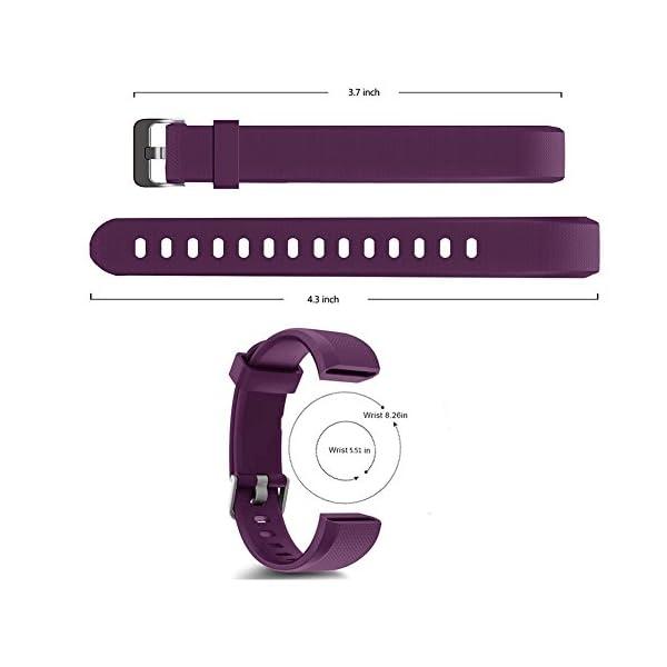 YiYunte ID115Plus HR - Correa de repuesto ajustable de TPU para pulsera inteligente 115 Plus HR Fitness Trackers 6