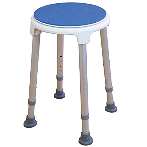 Rotating bath / shower stool with swivel seat - Adjustable height ECSSROT2