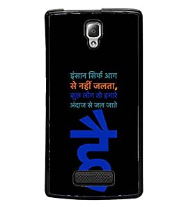 HiFi High Glossy Designer Phone Back Case Cover Lenovo A2010 ( Hindi Quote Status )