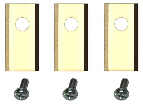 60 Titan Ersatz Messer Klingen f. Worx Landroid (1-Loch HQ 2019 | longlife | 1,0 mm) + Schrauben [DIN EN 50636 geprüft]