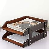 Ordnerregale Aktenschrank Kunstleder 2-Schicht-Datei Halter Desktop-Lagerregal Tray Frontlader Design A4 Bürobedarf & Schreibwaren (Farbe : B)