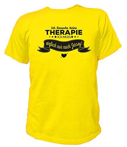 Artdiktat Herren T-Shirt Ich brauche keine Therapie - Ich muss einfach nur nach Jersey Gelb