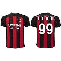 Maglia Milan 2021 Personalizzata Ufficiale 2020-2021 Adulto Ragazzo Bambino Tuo Nome e Numero (S Adulto)