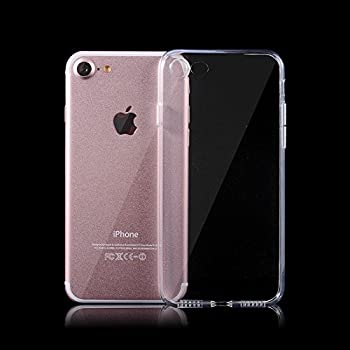 iSAVE Ultra Thin Soft Silicone Back Case Cover for Apple iPhone 7 ,Transparent