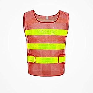 SXY Chaleco de seguridad reflectante Seguridad de alta visibilidad Construcción Trabajo Tráfico Ropa de seguridad reflectante Uniforme de tela (Color : Yellow)
