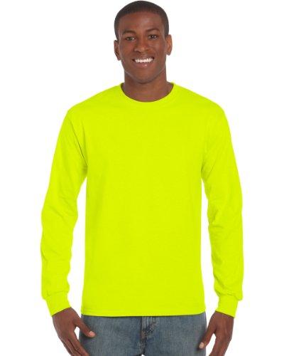 Gildan Ultra T-Shirt mit Rundausschnitt für Männer (M) (Sicherheitsgrün) M,Sicherheitsgrün (Sicherheit T-shirt Gelb)