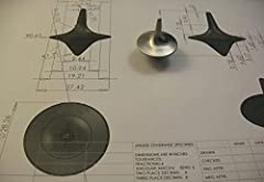 Idea Regalo - Trottola vintage, argento in lega di zinco, confezione regalo