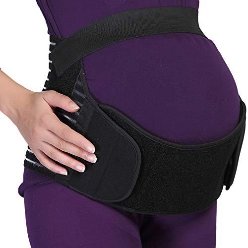 NEOtech Care - Bauchgurt für die Schwangerschaft - stützt Taille, Rücken & Bauch - Schwangerschaftsgurt - Schwarz - M