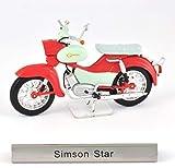 Atlas Simson Star DDR Motorrad Fertigmodell Maßstab 1:24
