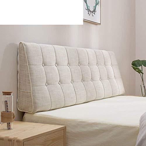 YLCJ Bolsa Suave de cama de Color Puro [Doble] [Europa del Norte] Almohada de Tela Cojín Grande en la cama Cojín trasero Funda de Noche de Tatami-G 180x50cm (71x20 pulgadas)