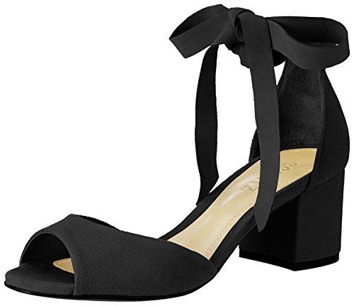 Protezione Donna S2-00010097 Sandali Con Il Cinturino Nero (nero)