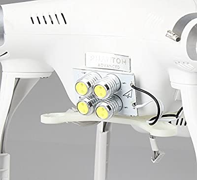 BlueBeach® Ultra Bright 4 LED Lights for DJI Phantom 3