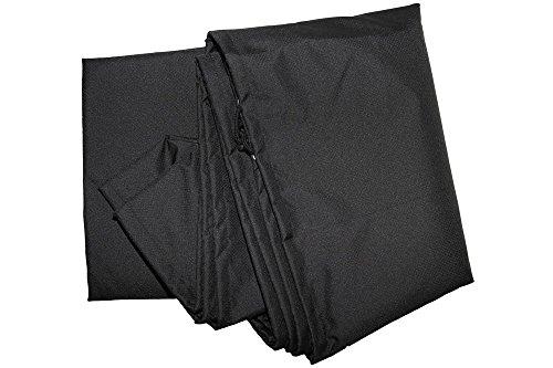 OUTFLEXX Premium Abdeckhaube für Esstisch, wasserbeständig, schwarz, 200x120x85 cm
