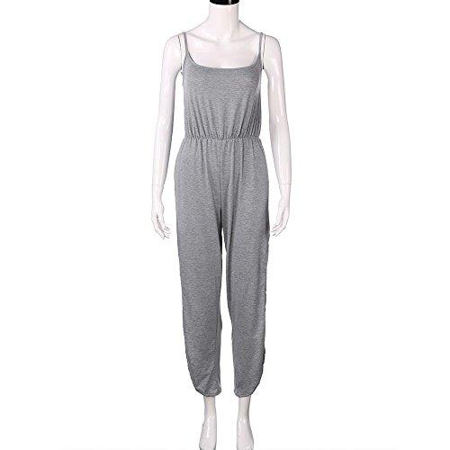 IMJONO.Frauen-reizvoller Clubwear Sleeveless Partei-Overall-Playsuit-Strand-Hosen (Grau, L)