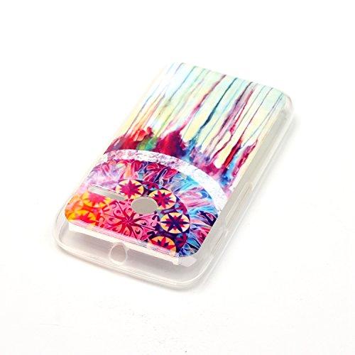 Qiaogle Téléphone Coque - Soft TPU Silicone Housse Coque Etui Case Cover pour Apple iPhone 5C (4.0 Pouce) - YH30 / Mignon chat sac dos YH21 / Dreamcatcher