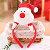 XINGSd 2019 New Adult Kids Christmas Xmas Novelty Headband Hat Costume Hair Clip Reindeer Santa(None H01)