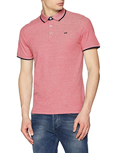 JACK & JONES Herren Jjepaulos Polo Ss Noos Poloshirt, Rot (Brick Red Detail: Slim Fit), M - Red Jack