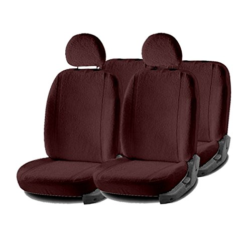 Hi Art Sweat Control Towel Front and Rear Car Seat Covers for Ignis, Maroon