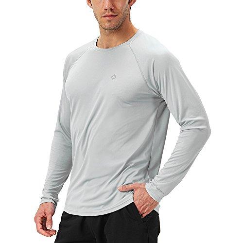 NAVISKIN Herren Raglan-Langarmshirt UPF 50+ atmungsaktives Outdoor-Shirt Skincare T-Shirt