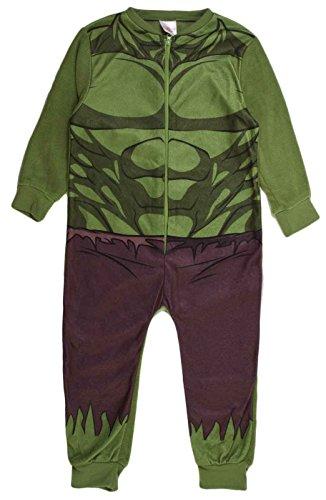 Kinder-Pyjama aus Fleece mit Aufdruck, Einteiler, 1–8Jahre Gr. Large, Hulk - Novelty (Fleece Superman)